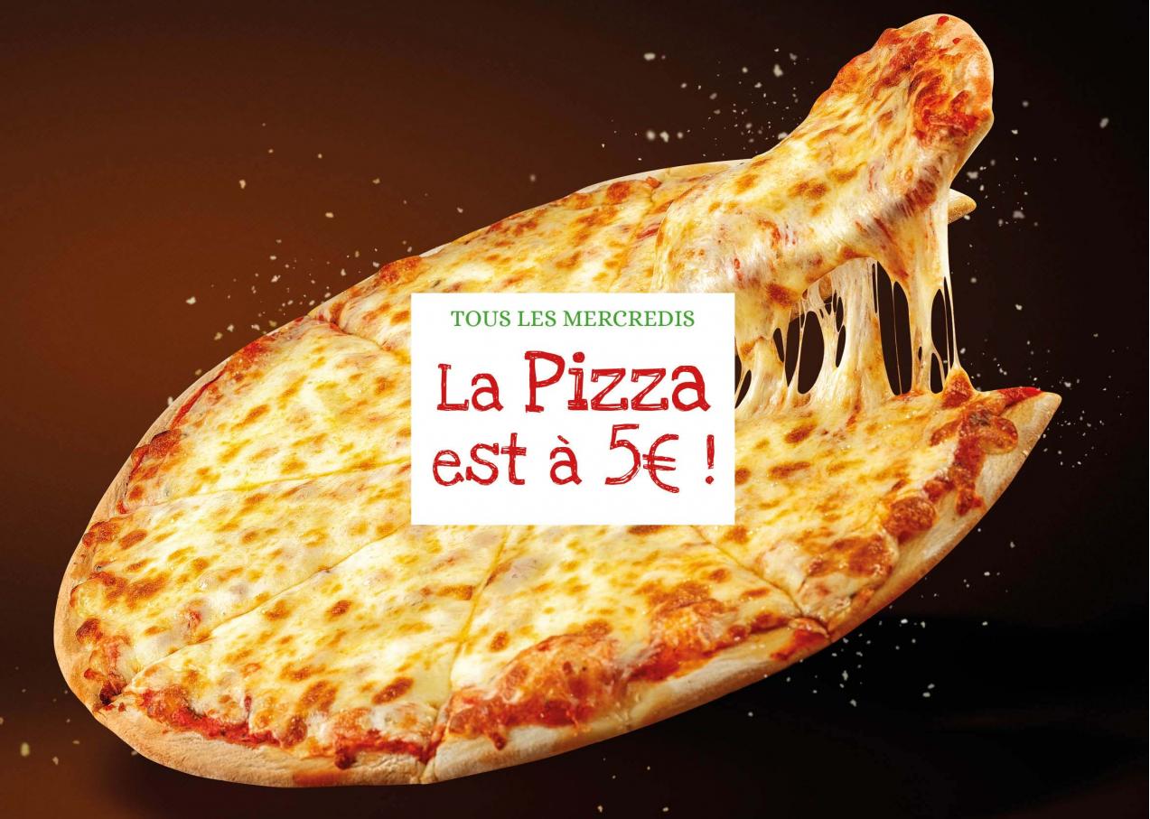 Tous les Mercredis : La Pizza est à 5€ !